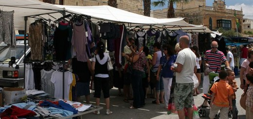 Bargain shopping in Malta.