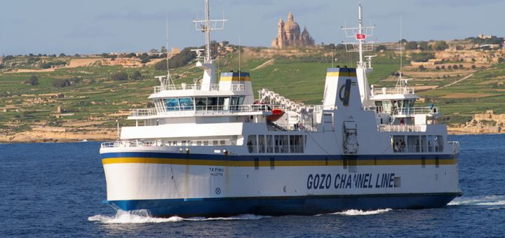 Getting from Malta to Gozo with Gozo Channel Line.