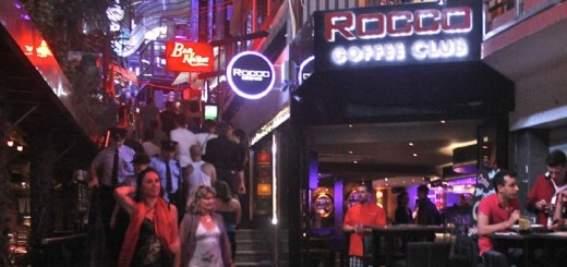 Nightlife in Paceville, Malta.
