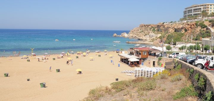 Golden Bay is one of the most popular sandy beaches in Malta.