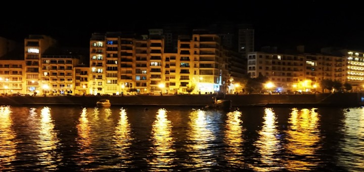 Sliema Night Lights, Malta.