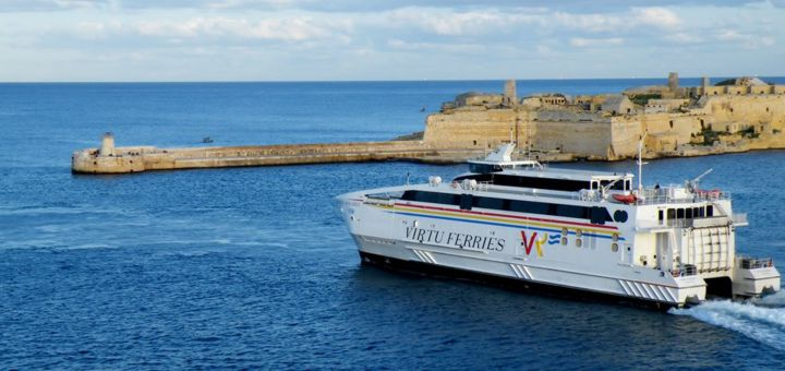 From Malta to Sicily with Virtu Ferries.