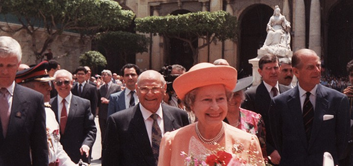Queen Elizabeth II in Malta.