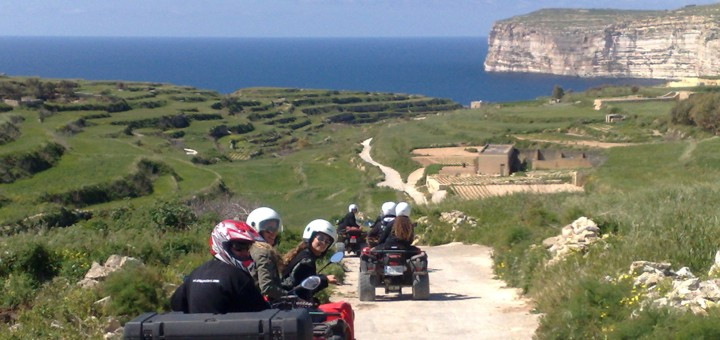 Riding around Gozo